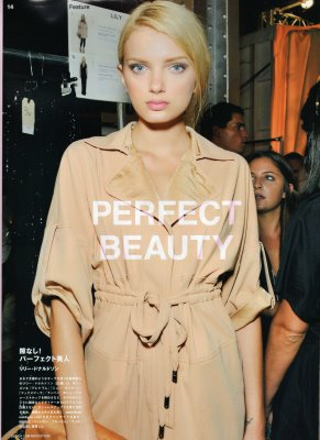 Fasiion News PERFECT 2009 S/S - Lily Donaldson