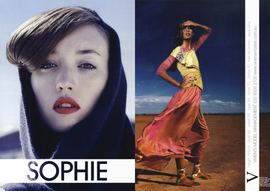 vivien's model 2009 showcard - Sophie Ward