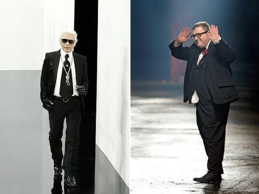 Karl Lagerfeld  & Alber Elbaz