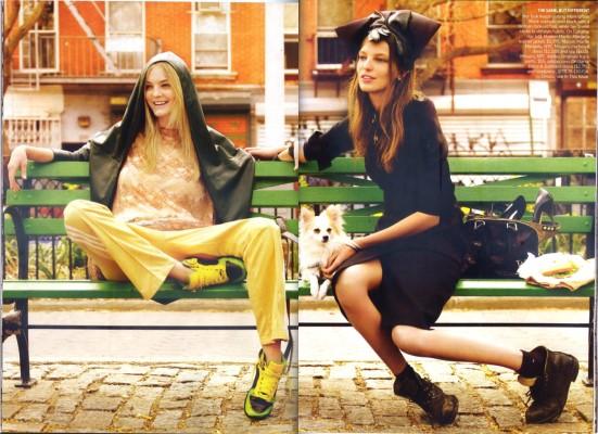 VOGUE July 2009 - Daria Werbowy & Caroline Trentini