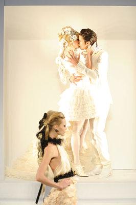 Chanel Haute Couture F/W 09.10 - Baptiste Giabiconi & Lara Stone