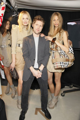 Burberry Prorsum S/S 2010 - Lily Donaldson,Christopher Bailey and Anna Selezneva