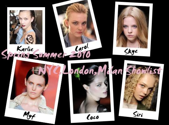 model showlist