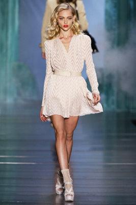Christian Dior S/S 2010 - Sasha Pivovarova