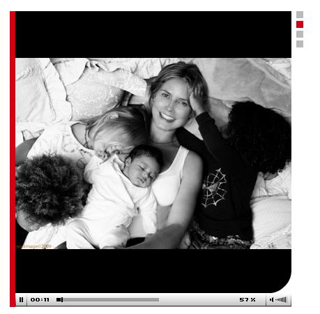 Heidi klum with her children
