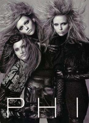 PHI F/W 09.10 - Natasha Poly,Sasha Pivovarova,Anna Selezneva
