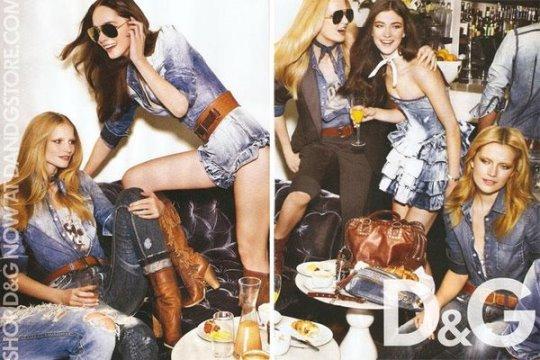 D&G S/S 2010 : Cato, Daria, Jacquelyn, Jules & Katrin