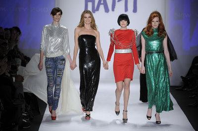 Fashion for Relief Haiti - Iris Strubegger, Angela Lindvall, Agyness Deyn and Karen Elson