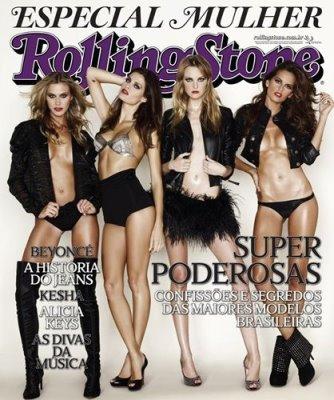 Rolling Stone Brazil March 2010 - Renata Kuerten, Isabelli Fontana, Carol Trentini, Izabel Goulart