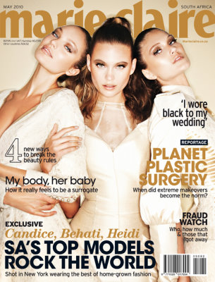 marie claire South Africa May 2010 - Candice Swanepoel,Behati Prinsloo and Heidi Verster