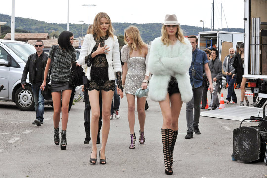 Leigh Lezark,Magdalena Fracowiack, Heidi Mount, Karoline Kurkova and Abbey Lee