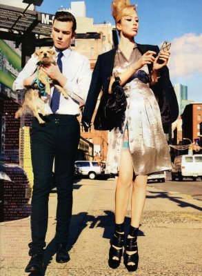 Vogue Nippon June 2010 : Raquel Zimmermann and Nicholas Hoult