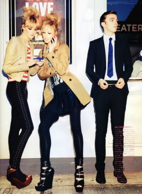 Vogue Nippon June 2010 : Caroline Trentini,Raquel Zimmermann and Nicholas Hoult