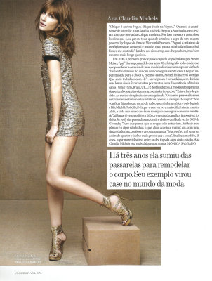 Vogue Brazil May 2010 :Ana Claudia Michels