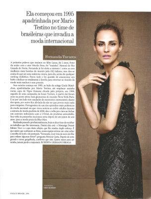Vogue Brazil May 2010 :Frernada Tavares