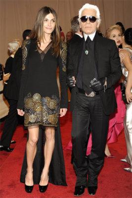Met Gala 2010 - Elisa Sednaoui & Karl Lagerfeld