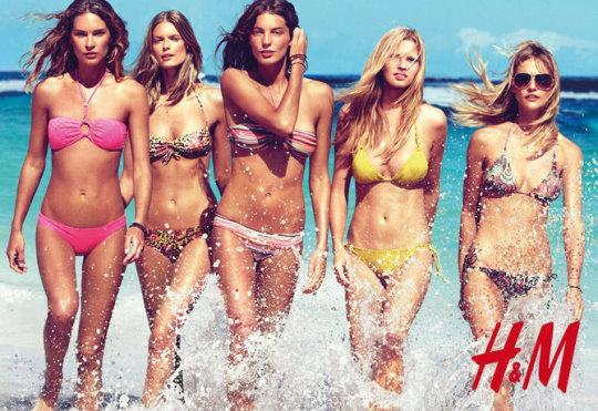 H&M Swimwear 2010 : Erin Wasson, Julia Stegner ,Daria Werbowy, Lara Stone and Sasha Pivovarova