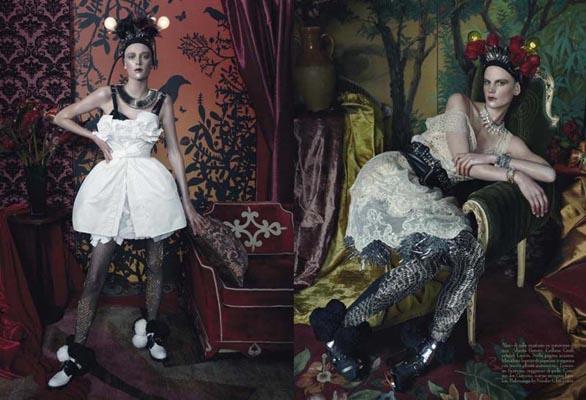 Vogue Italia March 2011 - Saskia de Brauw, Milou van Groesen