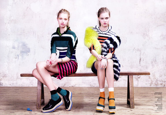 Vogue China March 2011 - Lindsey Wixson & Hailey Clauson