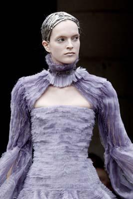 Alexander McQueen F/W 2011 - Mirte Maas