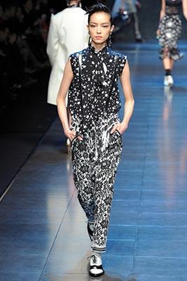 Dolce & Gabbana F/W 2011 - Fei Fei Sun