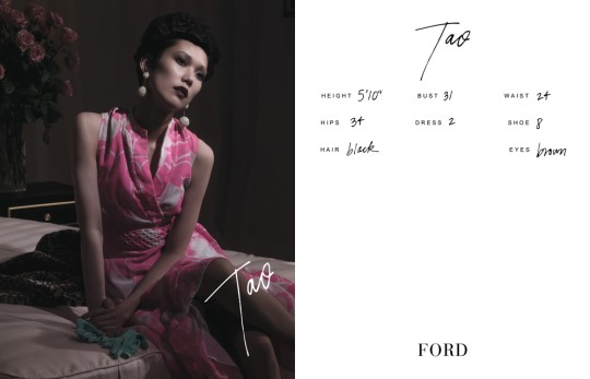 Show Packages-NY SS 11: Ford Models - Tao Okamoto