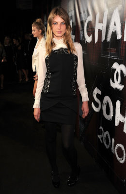 Angela Lindvall at the re-opening party for the Chanel Soho store