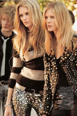 Vogue España November 2010:Toni Garrn & Iselin Steiro