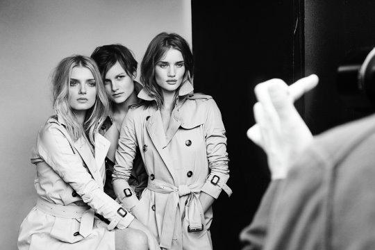 Burberry Beauty: Lily Donaldson ,Nina Porter & Rosie Huntington
