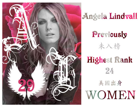 29.Angela Lindvall