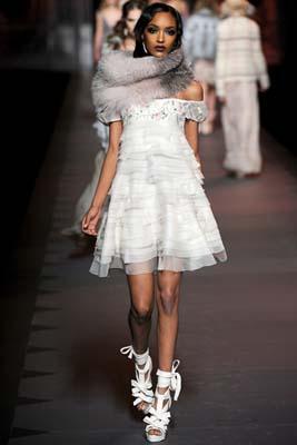 Christian Dior F/W 2011 - Jourdan Dunn