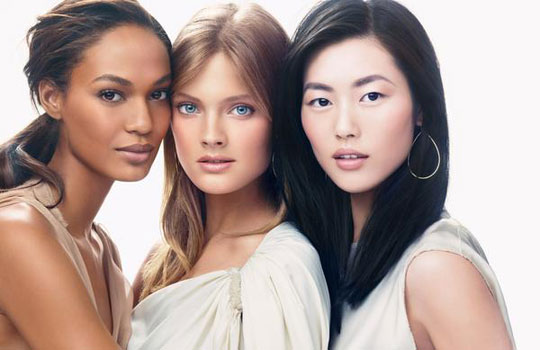 Estee Lauder Women in Beauty Spring 2011:Joan Smalls,Constance Jablonski,Liu Wen