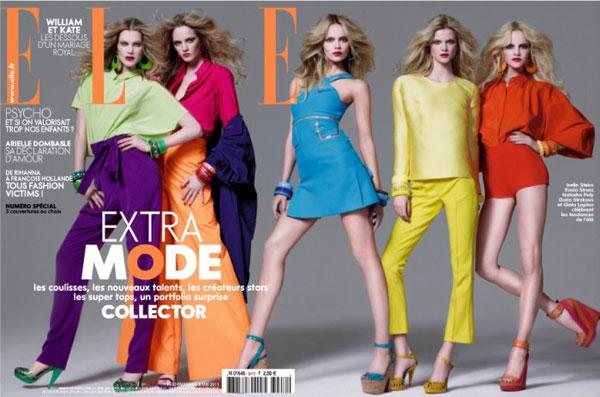 Elle France May 6 2011 - Iselin Steiro, Daria Strokous, Natasha Poly,Kasia Struss and Ginta Lapina