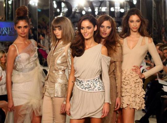 David Jones S/S 2010 : Samantha Harris,Abbey Lee Kershaw,Nicole Trunfio,Catherine McNeil & Alexandra Agoston