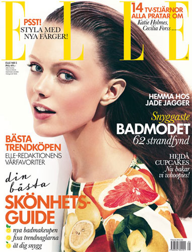 Elle Sweden May 2011 : Frida Gustavsson