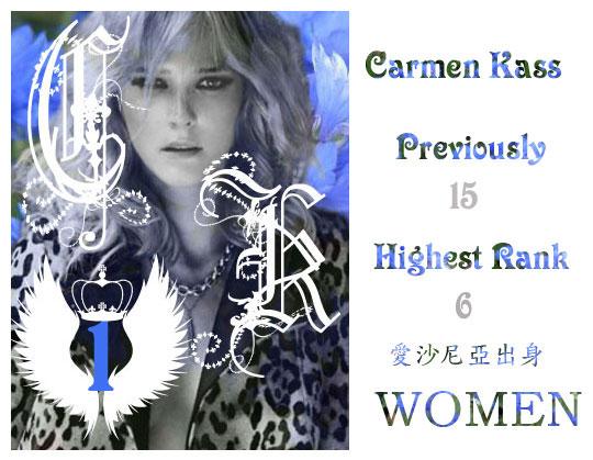 1.Carmen Kass