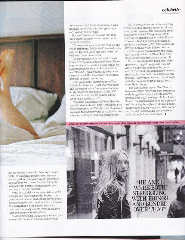 Sunday Magazine - Gemma Ward
