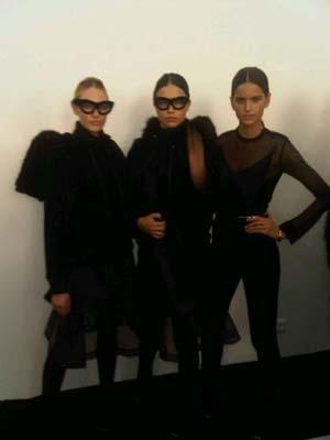 Givenchy F/W 2011 - Candice Swanepoel,Adriana Lima,Izabel Goulart