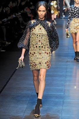 Dolce & Gabbana F/W 2011 - Joan Smalls