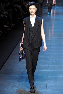 Dolce & Gabbana F/W 2011 -Jacquelyn Jablonski