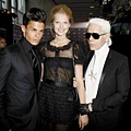 An Evening For Africa - Baptiste Giabiconi,Toni Garrn & Karl Lagerfeld