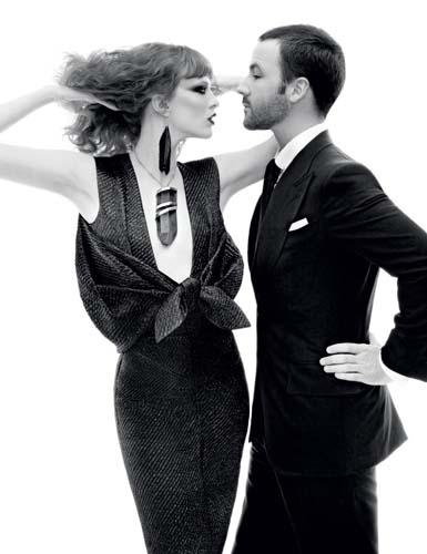 Vogue December 2010 - Tom Ford & Karen Elson