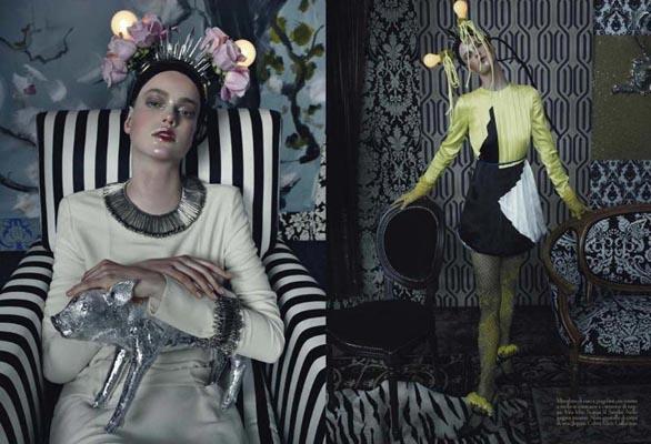 Vogue Italia March 2011 - Julia Saner, Saskia de Brauw