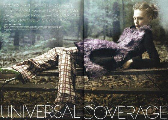Vogue August 2010:Sasha Pivovarova