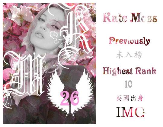 26.Kate Moss