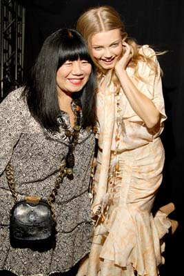 Anna Sui S/S 2011 : Anna Sui & Lindsey Wixson