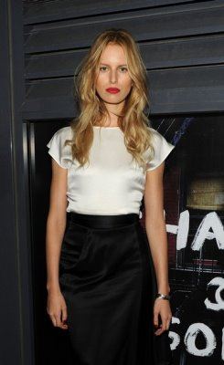Karolina Kurkova at the re-opening party for the Chanel Soho store