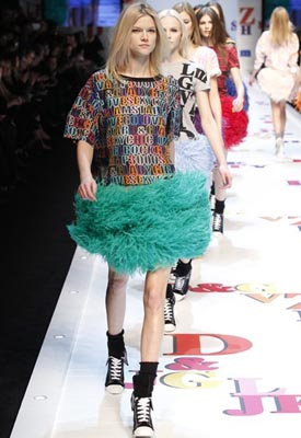 D&G F/W 2011 - Kasia Struss