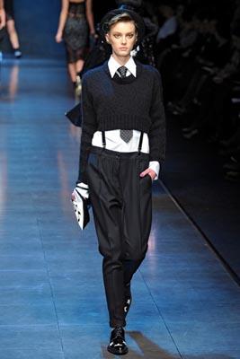 Dolce & Gabbana F/W 2011 - Sigrid Agren