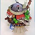 霍爾的移動城堡-紙模型